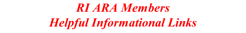 RI ARA Members Helpful Informational Links